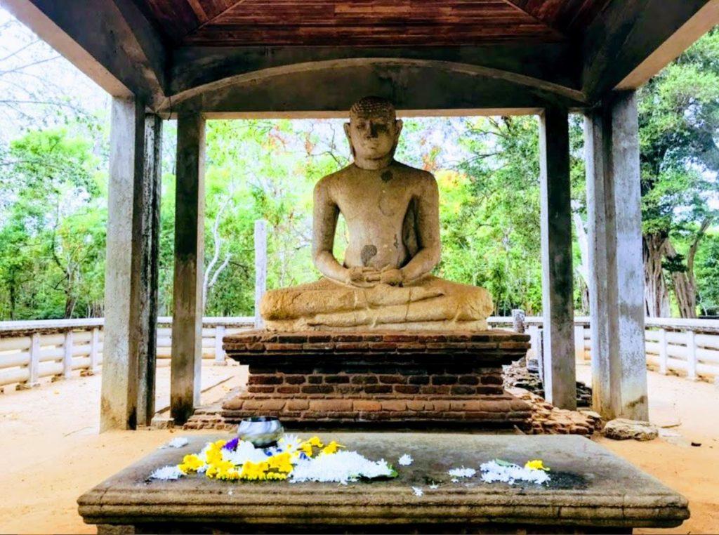 A statue of Buddha at Anuradhapura, Sri Lanka