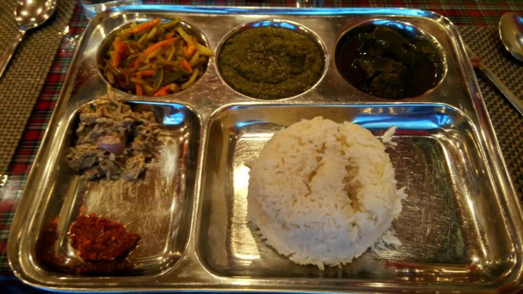 A traditional Khasi meal