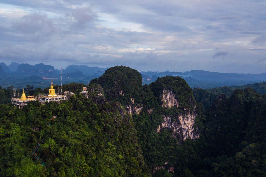 Aerial view of Wat Tham Sua or Tiger Temple, Krabi
