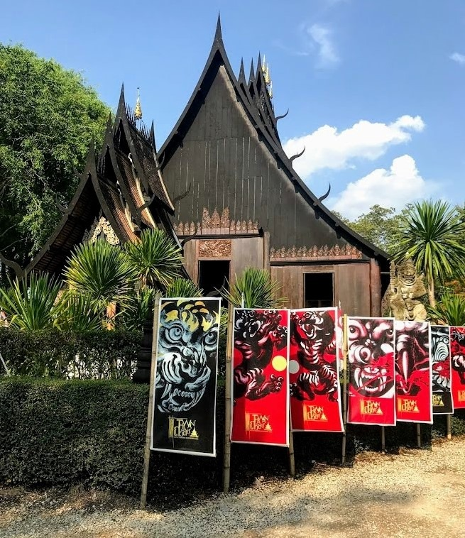 Black house or Baan Dam in Chiang Rai, Thailand