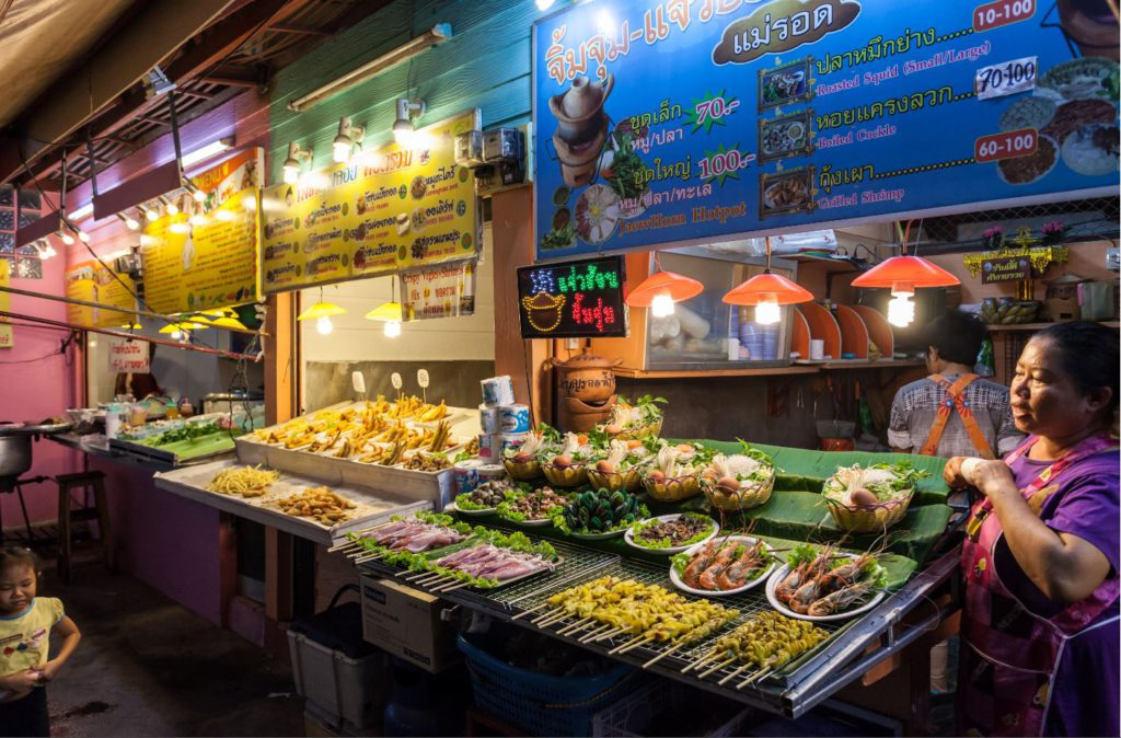 Food Court at Chiang Rai Night Market.