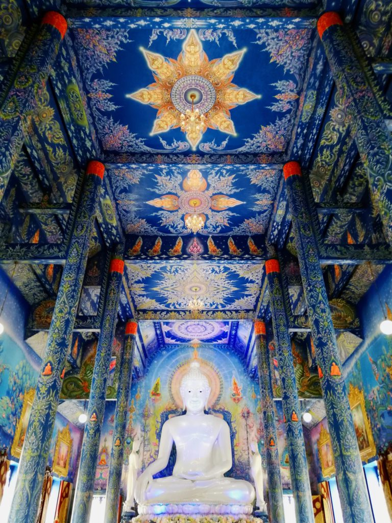 Inside the Blue temple, Chiang Rai