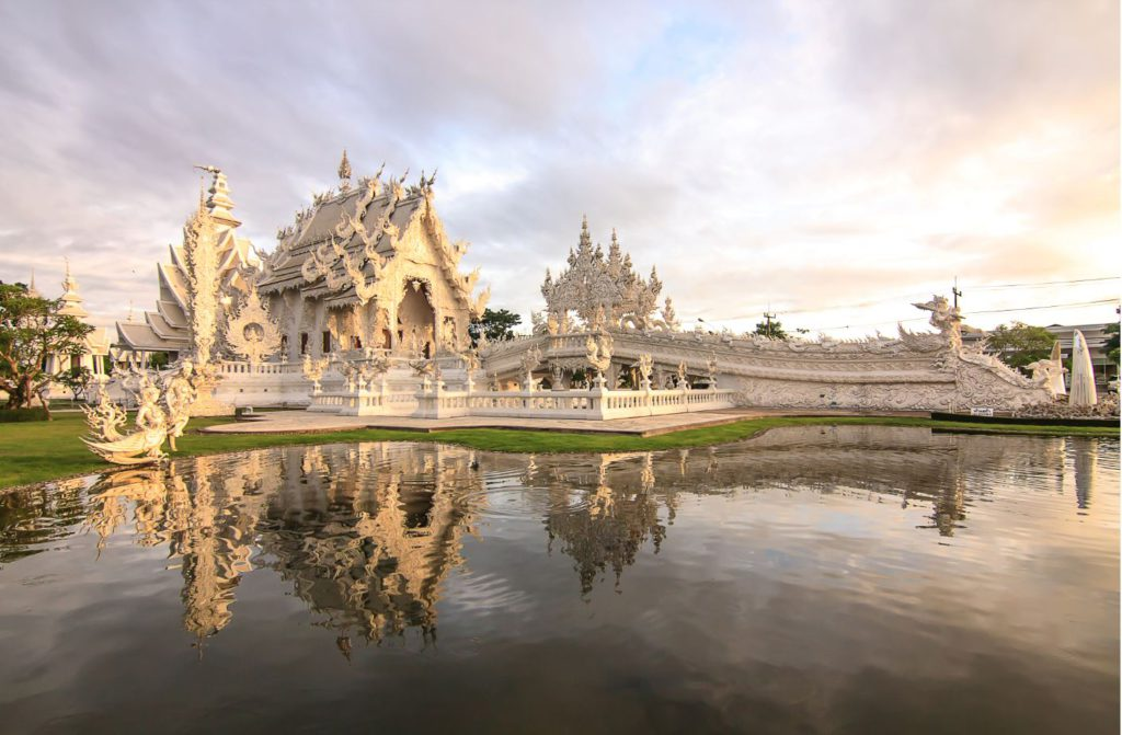 Wat Rong Khun or White temple in Chiang Rai, Thailand