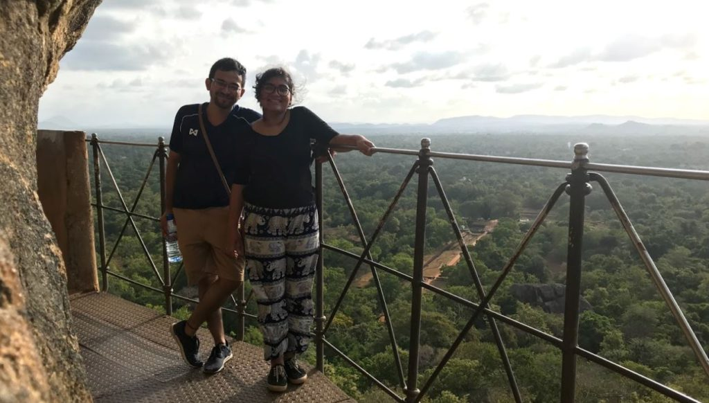 The view on the way to the top of Sigirya, Sri Lanka