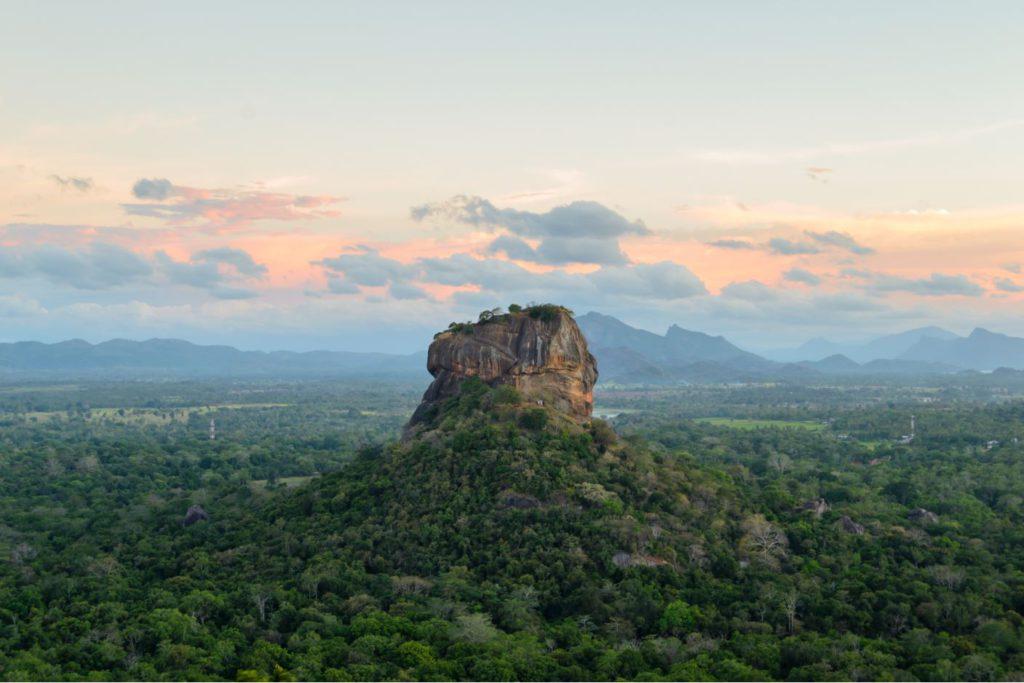 Sigiriya monolithic rock, Sri Lanka