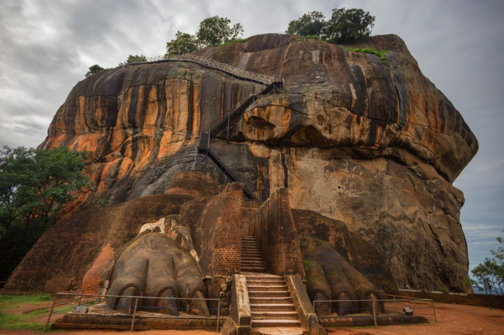 Entrance to the main fortress on top of Sigiriya Lion Rock