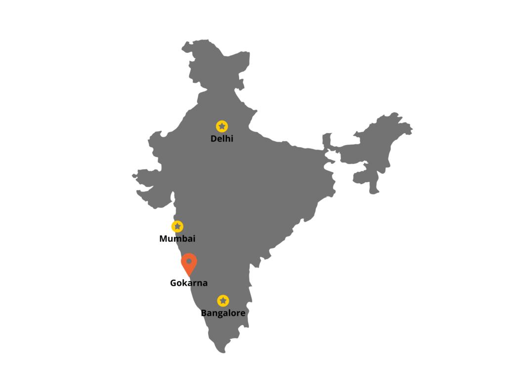 Location of Gokarna in India