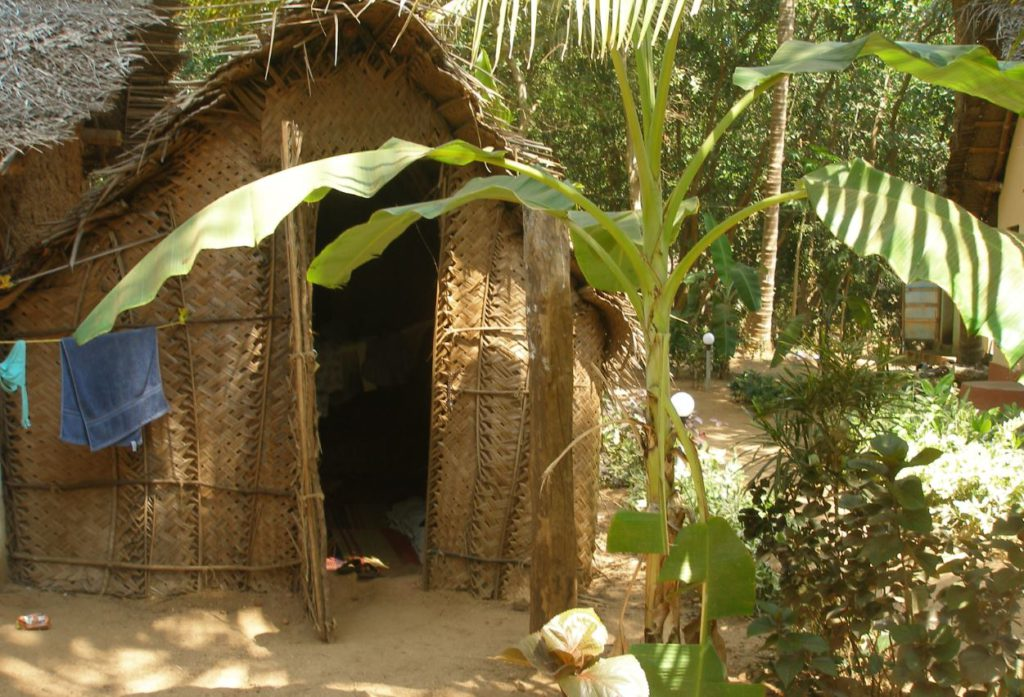 A temporary shack made of bamboo to stay in Gokarna