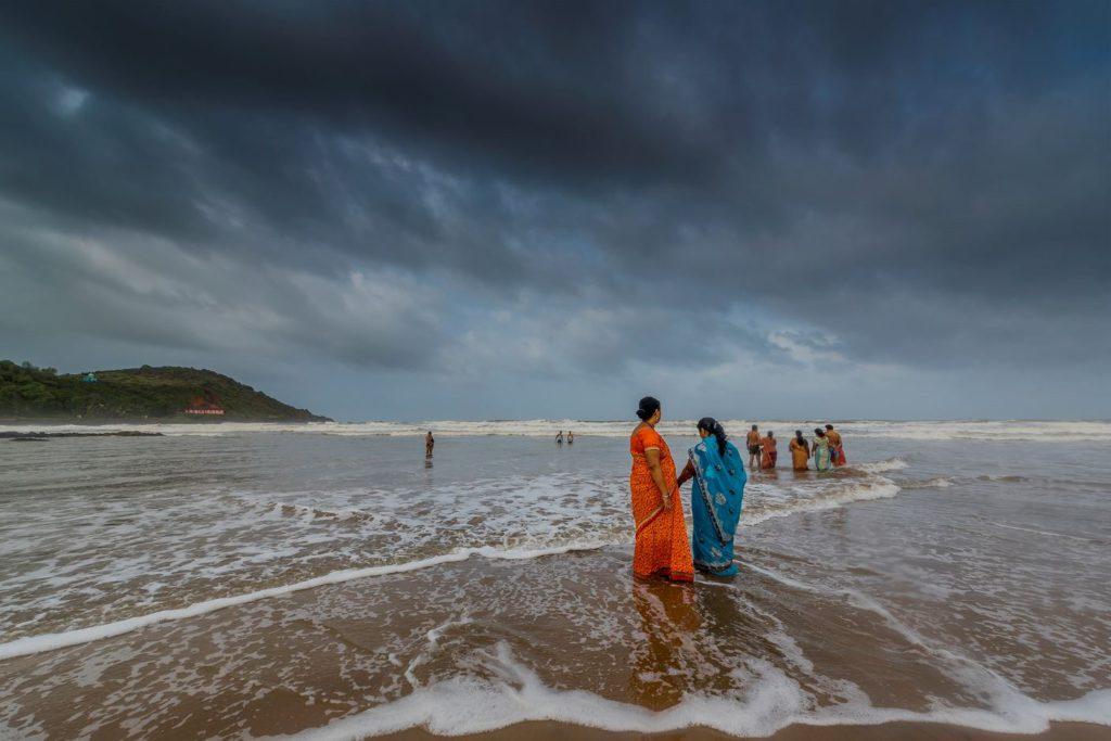 Locals at Gokarna beach