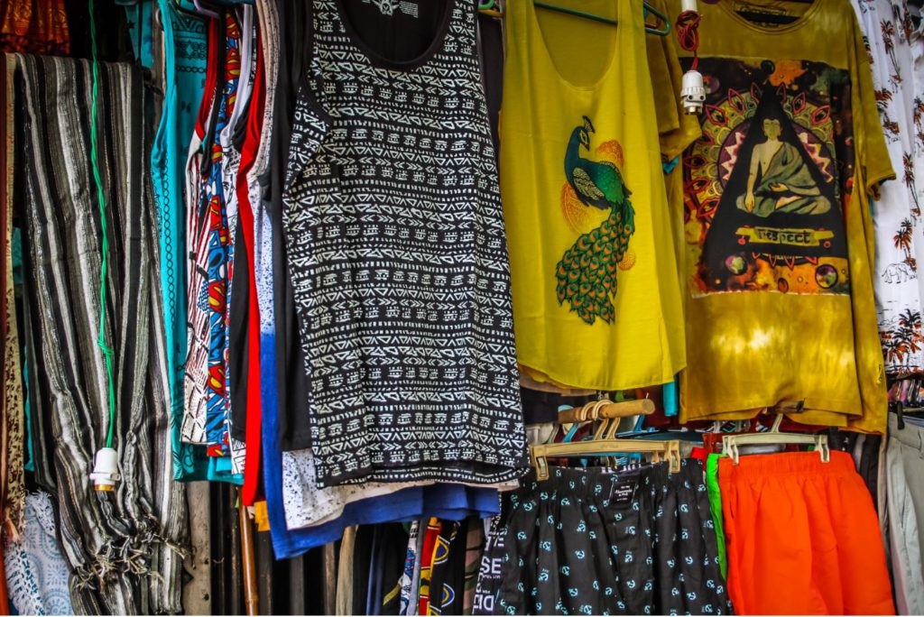 Cotton beach clothes sold in local shops in Gokarna