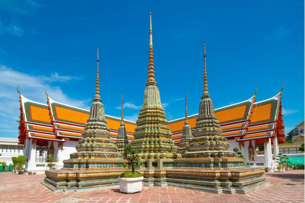 Stupas outside Wat Pho