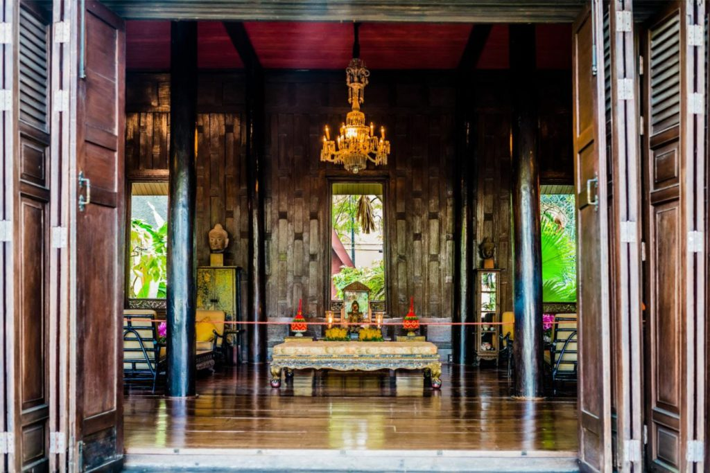 The living room in Jim Thompson Museum