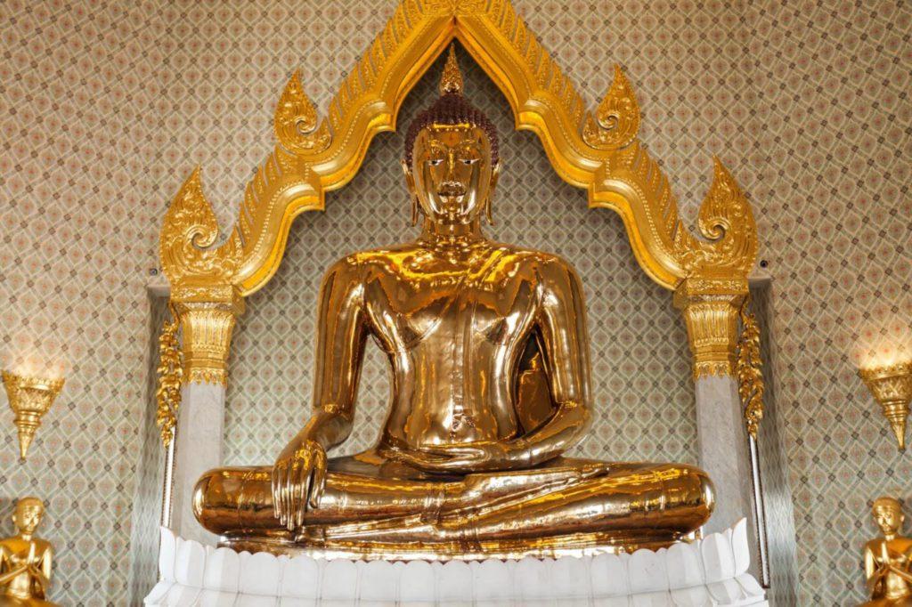 Statue of Buddha made of Gold at Wat Traimit