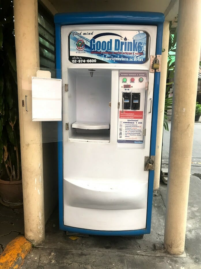 A public water dispenser for drinking water in Thailand
