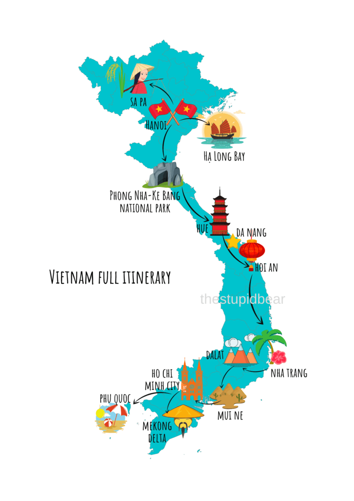 Vietnam complete travel itinerary