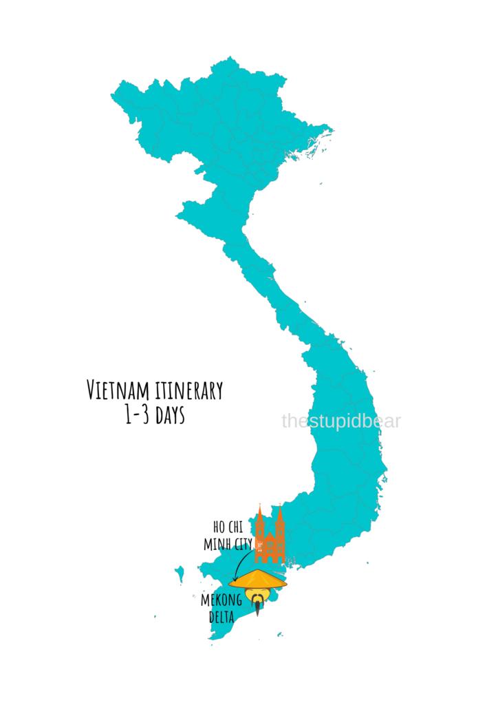 vietnam travel itinerary for 1-3 days