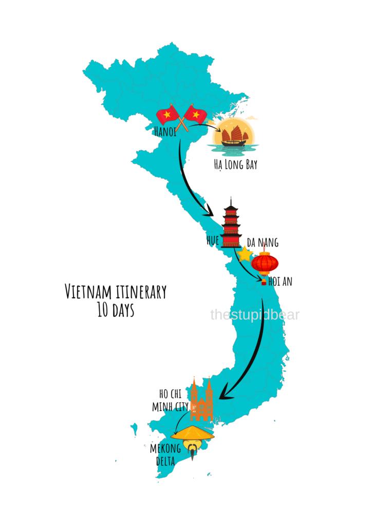 vietnam travel itinerary for 10 days