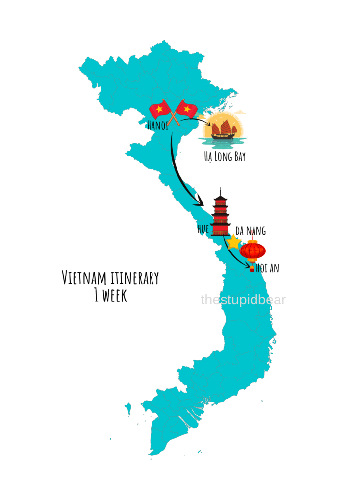 vietnam travel itinerary for 1 week