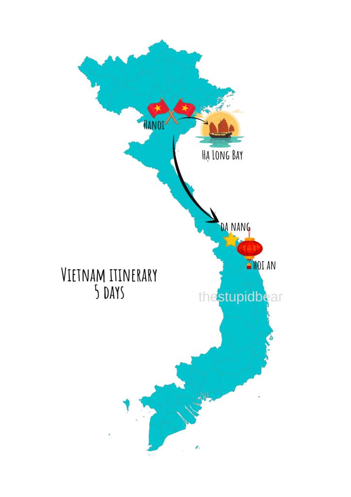 vietnam travel itinerary for 5 days