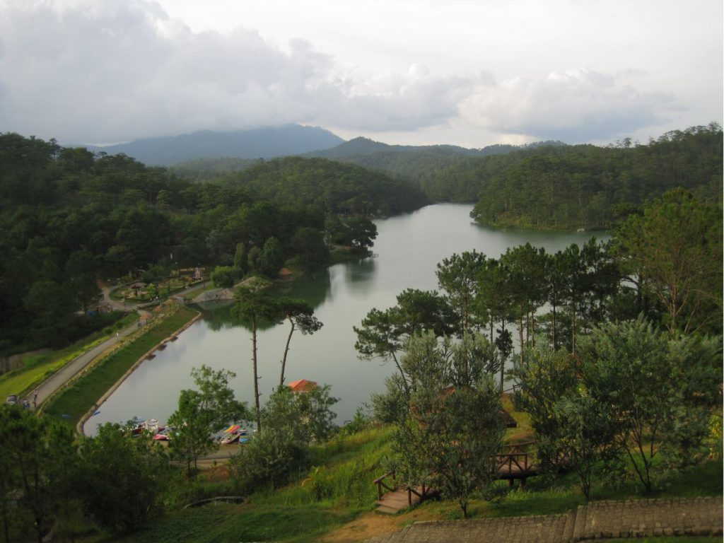 Aerial View of Valley of Love, Places to see in Da Lat
