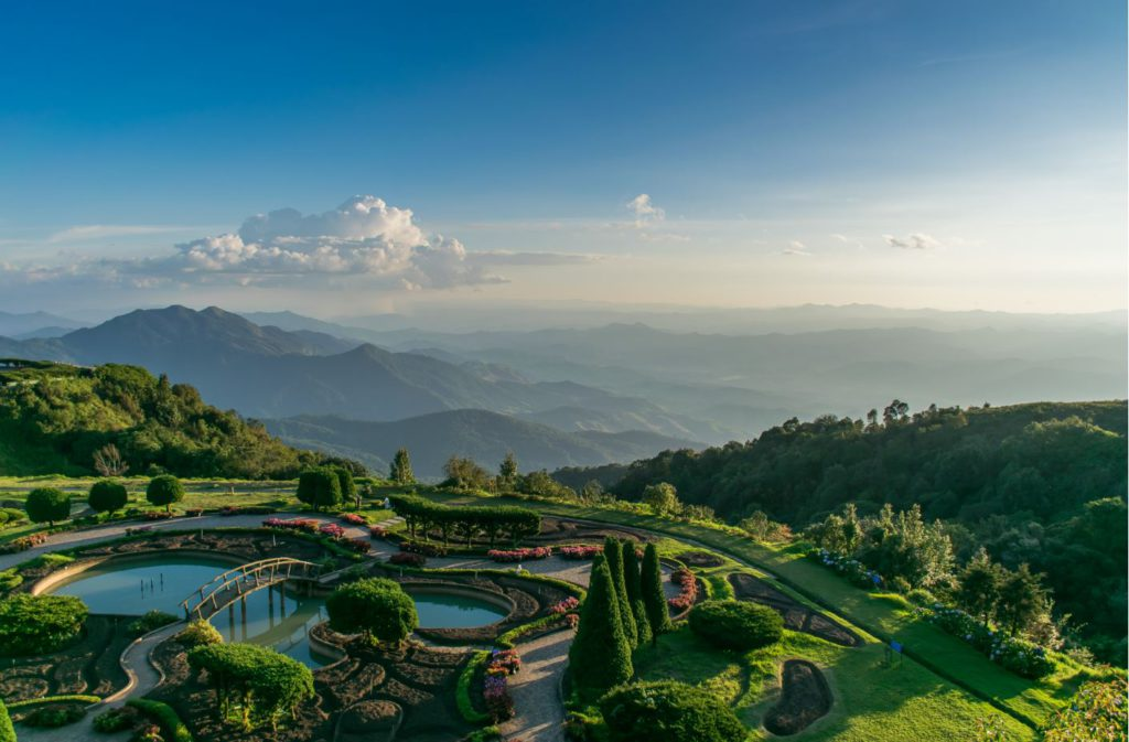 View of surrounding valleys from Doi Inthanon