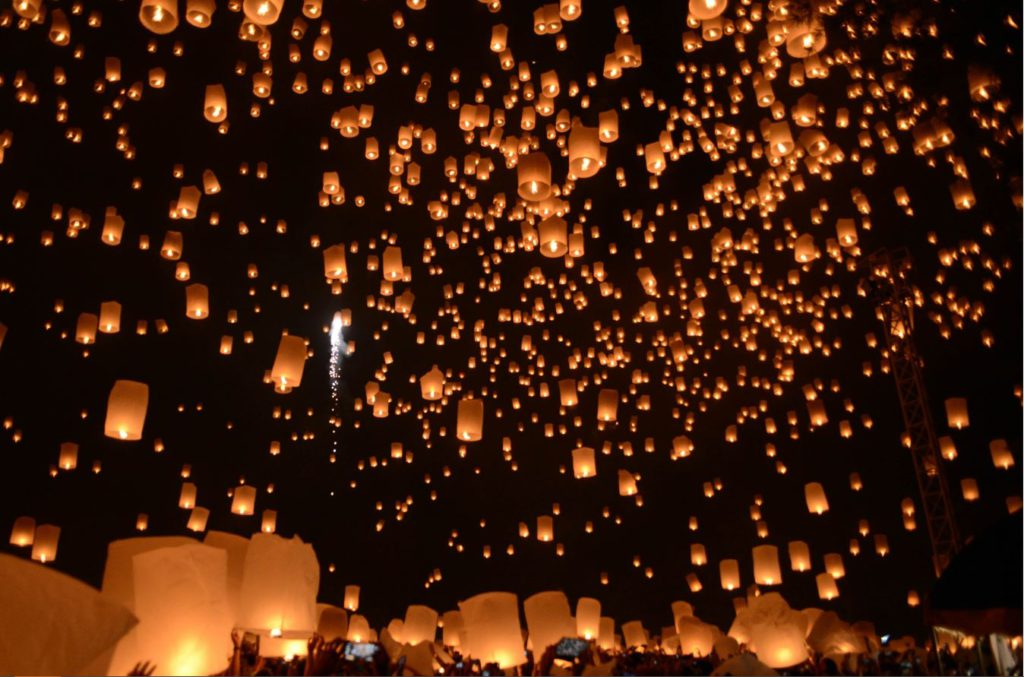 Yi Peng festival celebrated in Chiang Mai
