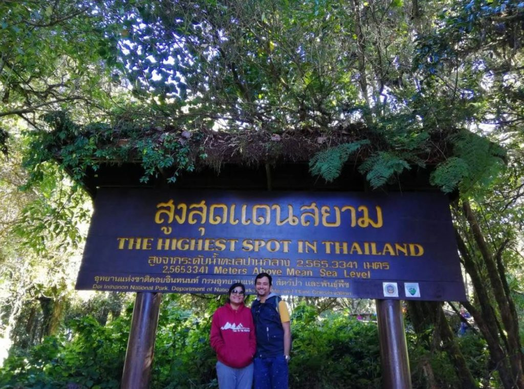 At the highest point on Doi Inthanon