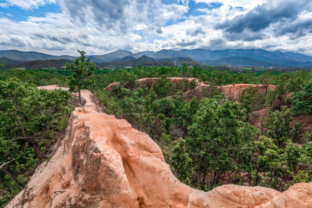Canyon like landscape at Pai Canyon