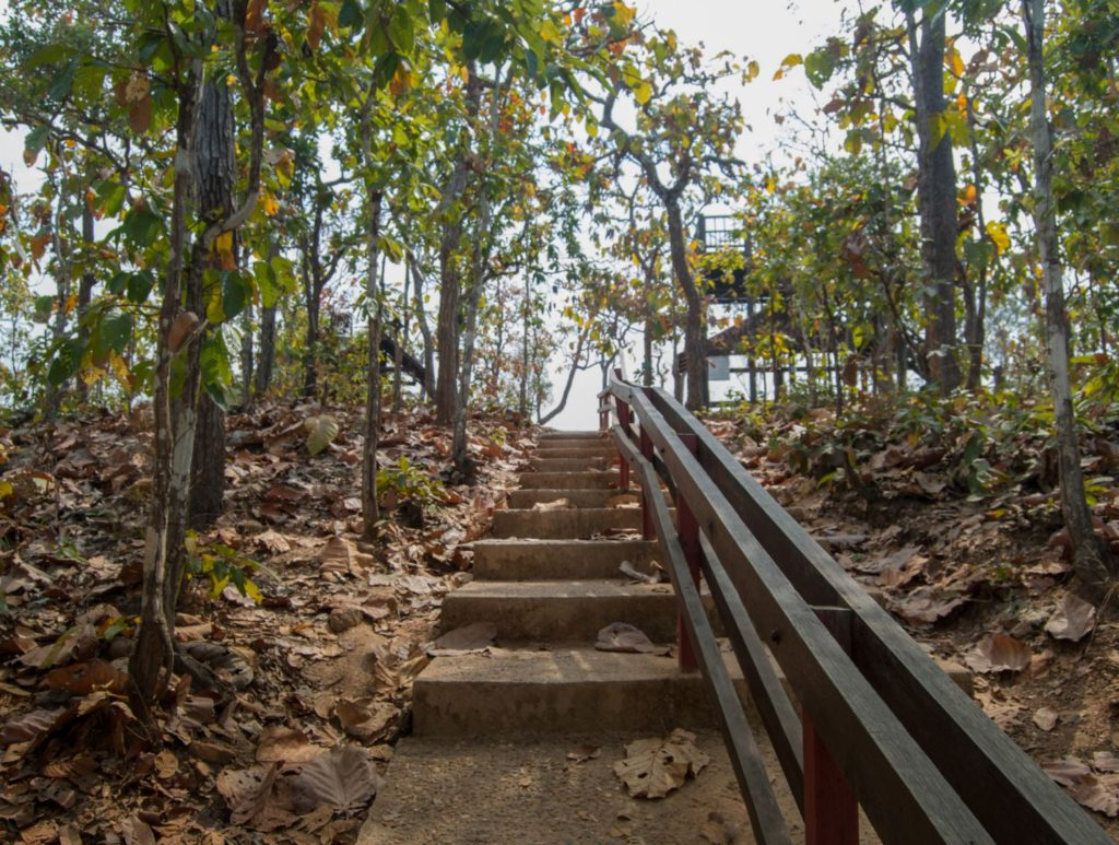 Stairs to Pai Canyon