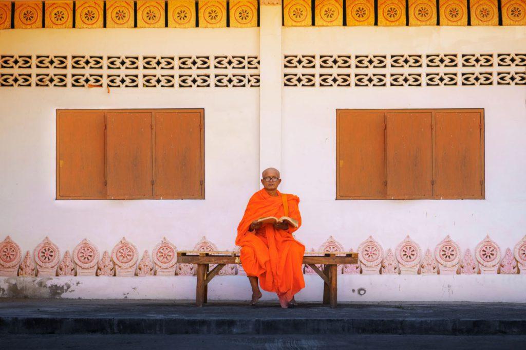 A monk in Thailand