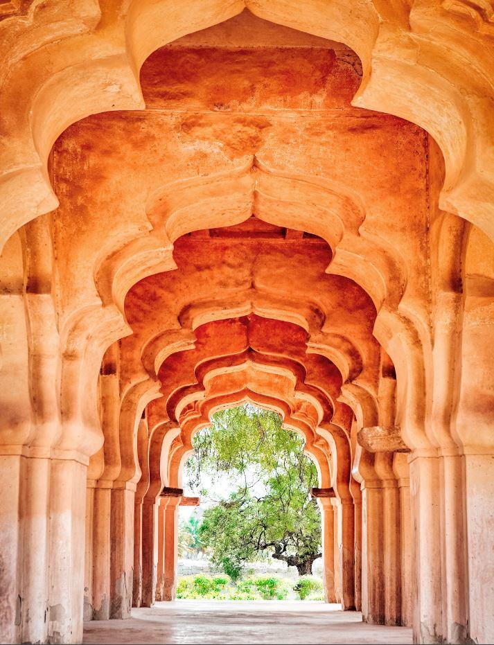 Arches of the Lotus Mahal, Hampi