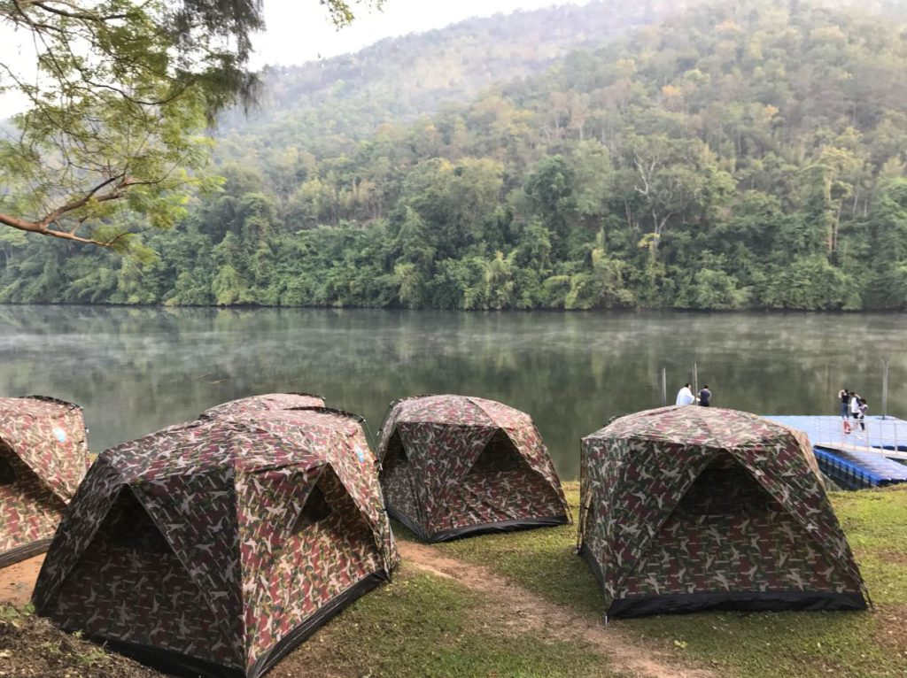 Camping site in Erawan National Park
