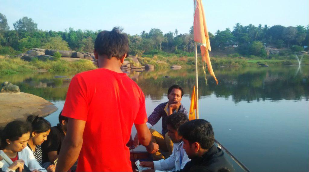 Crossing the Tungahadra River