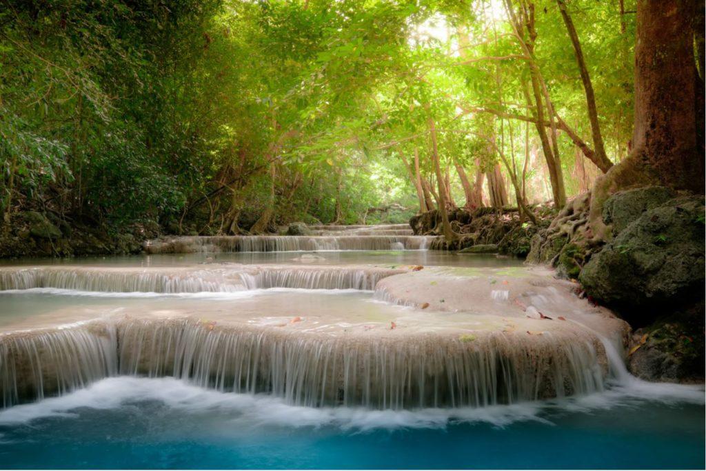 Erawan waterfalls thailand