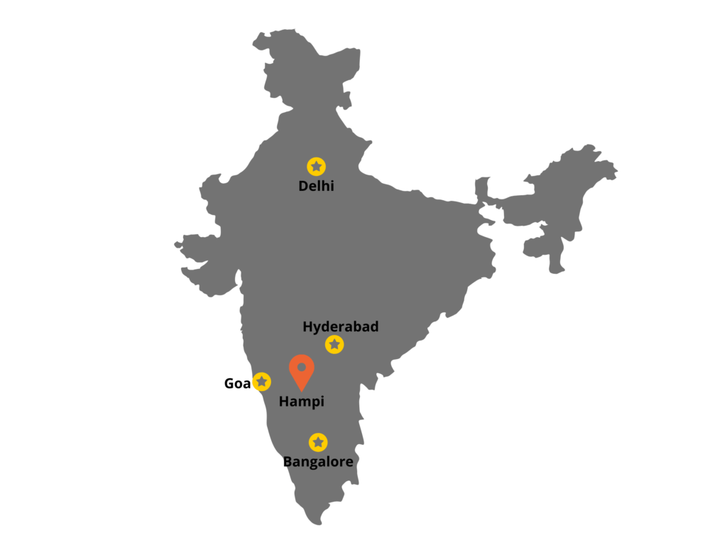 Hampi location in India