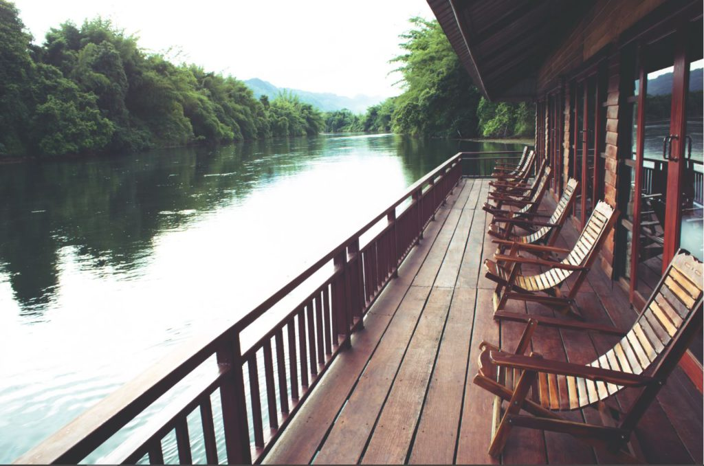 Hotel next to River Kwai