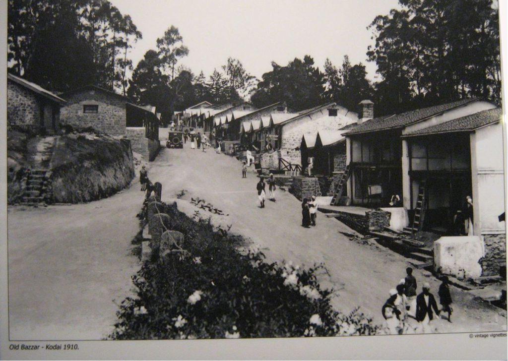 Kodaikanal Bazaar in 1910