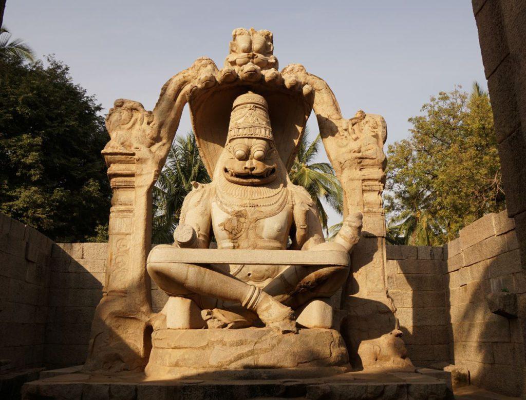 Lakshami Narsimha Statue in Hampi