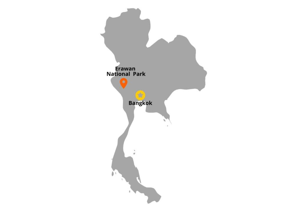 Location of Erawan National Park