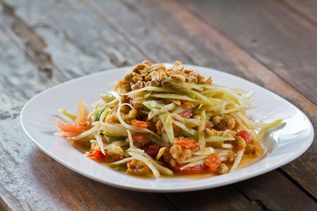Som Tam, Raw Green Papaya Salad