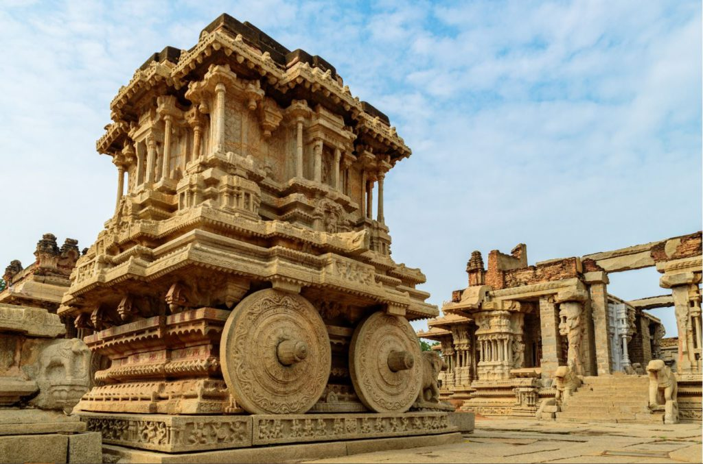 Stone Chariot at Vittala temple complex