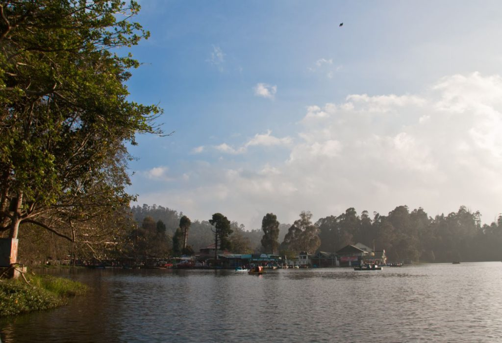 View of Kodai Lake in Kodaikanal