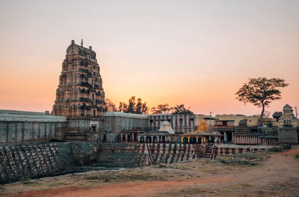 Virupakshha Temple during sunset