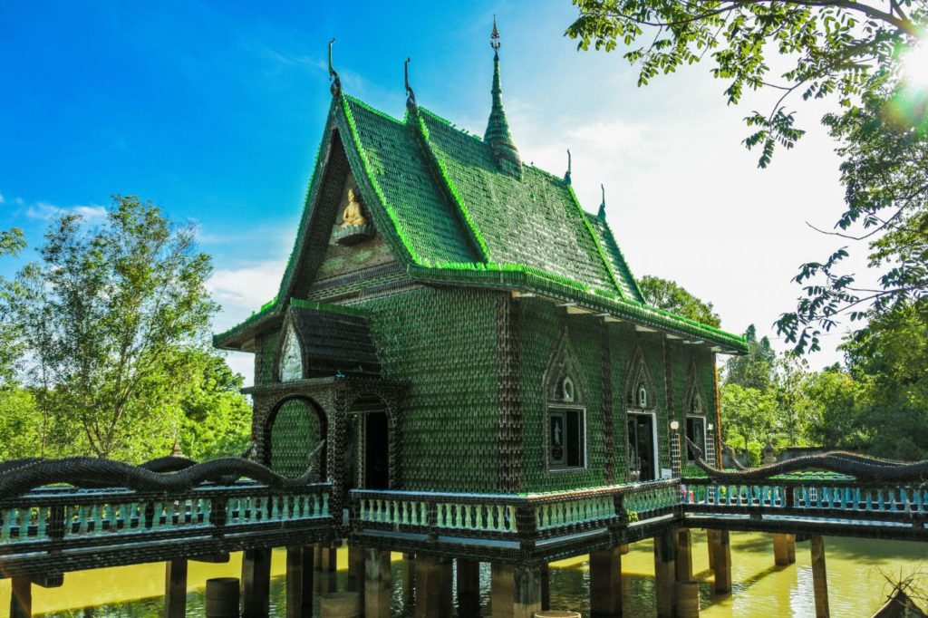 Wat Larn Kuad, a temple made out of glass bottles