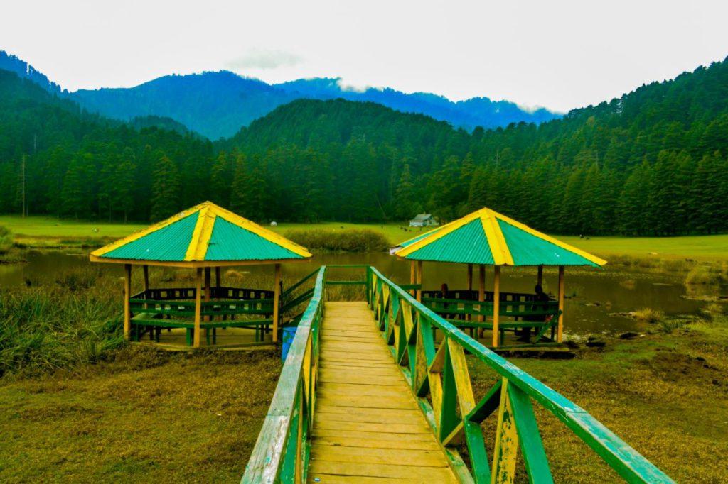 Canopy for seating next to Khajjiar lake