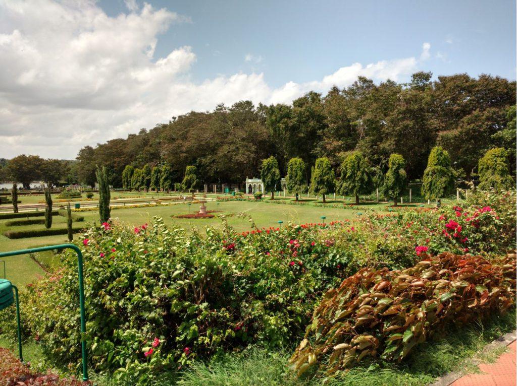 Day time view of Brindavan Gardens