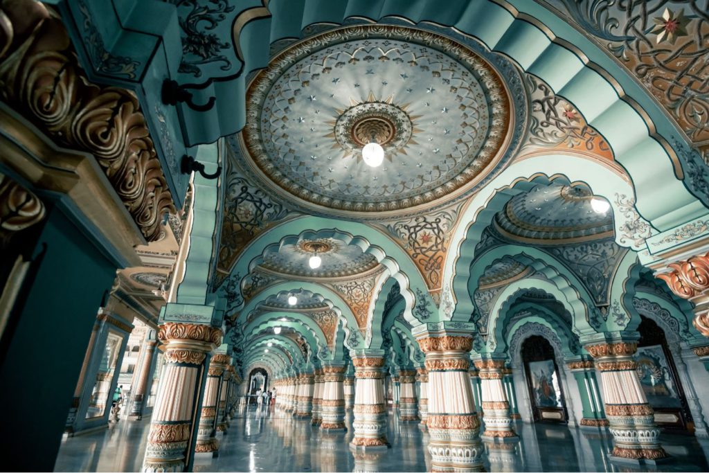 Inside Mysore Palace, day trip to Mysore