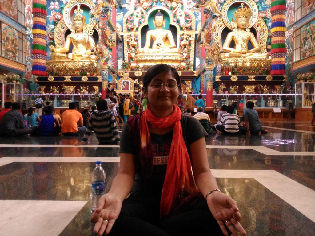 Prayer Hall Inside Namdroling Monastery