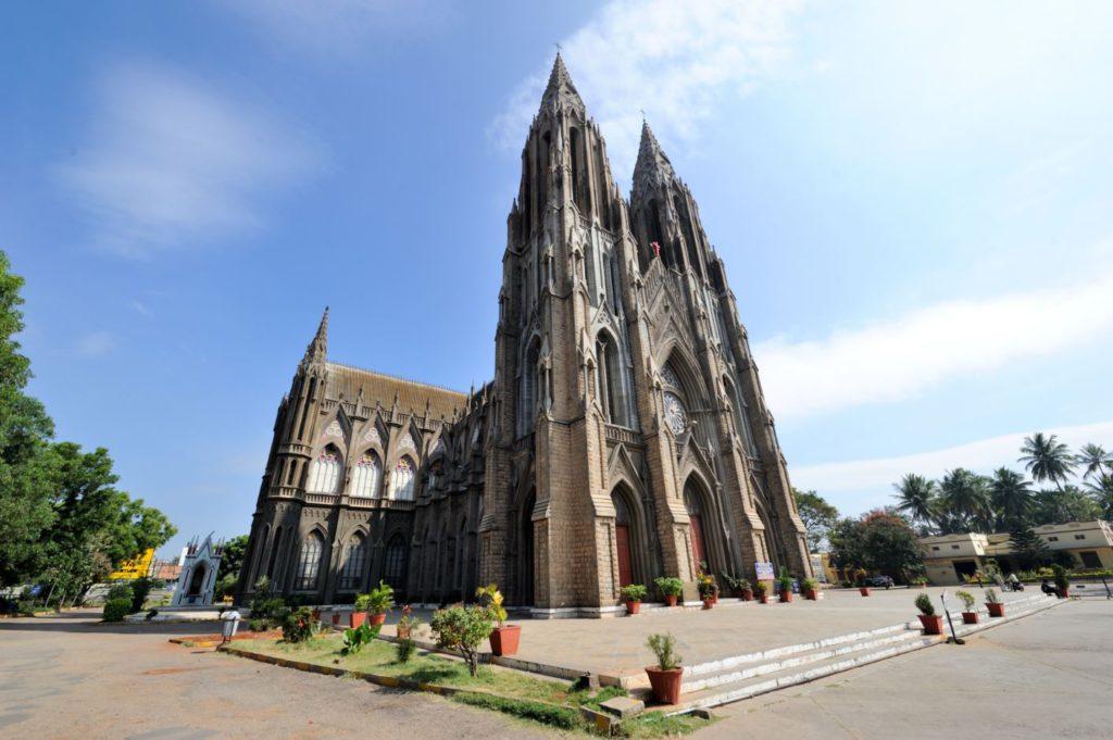 St. Philomena's Church in Mysore, day trip to Mysore