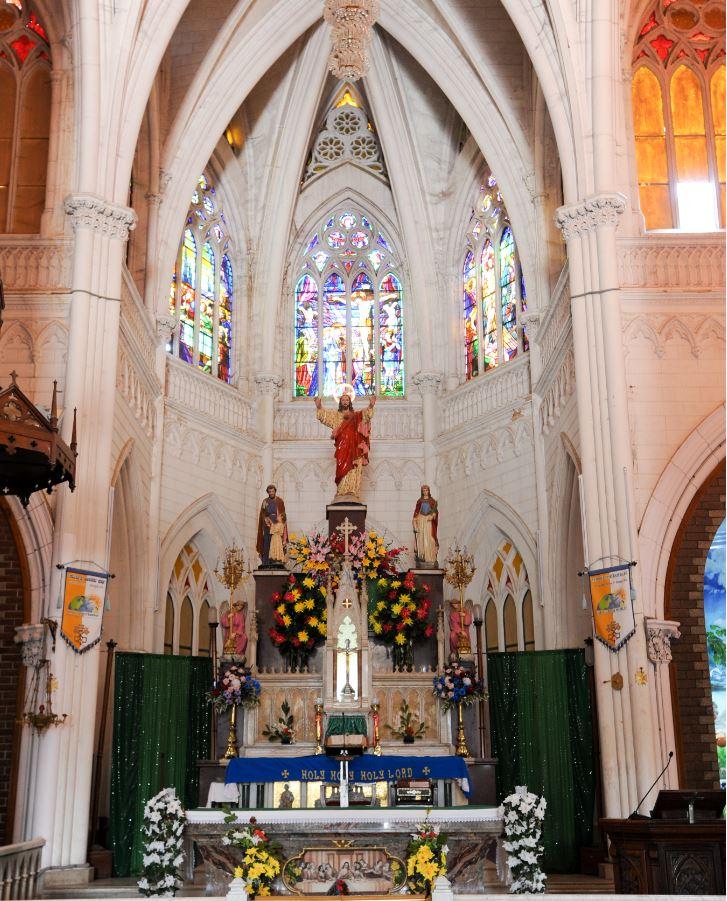 The Altar inside St.Philomena's Church